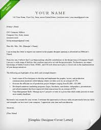 Cover Letter For Graphic Design Job Application Graphic Designer