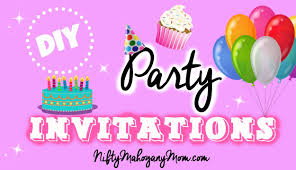 Make Birthday Party Invitations Make Your Own Party Invitations Youtube