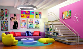 pop art deco style expressive and