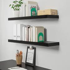 lack wall shelf black brown 43 1 4x10
