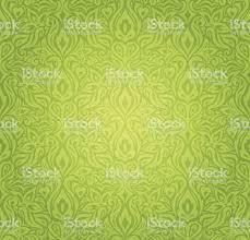 Groene Vintage Behang Vector Design Backround Stockvectorkunst En
