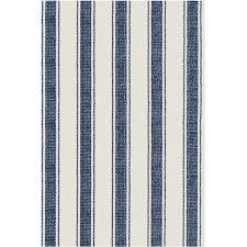 dash albert blue awning stripe woven cotton rug