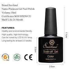 Online Shop <b>Saviland</b> 1pcs Platinum UV Nail Gel Polish Soak Off 12 ...