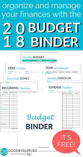 Free Printable Budget Free Budget Binder Manage Your Money With Ease Goodbye To Broke
