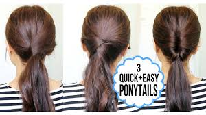 Quick Cute Ponytail Hairstyles Running Late Ponytail Hairstyles Hair Tutorial Youtube