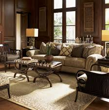 Tommy Bahama Living Room Furniture Royal Kahala Edgewater Rolled Arm Sofa With Nailhead Trim By Tommy