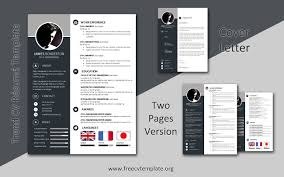 The layout of this free word resume template is divided into the area with the main info and the sidebar with secondary details. 2 Pages Version Samples Templates Get A Free Cv