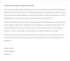 Letter Recommendation Sample Reference Of Manager Letters For