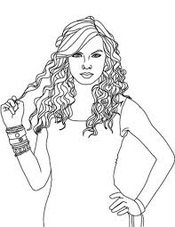 Small Picture Taylor Swift Hold Her Hair Coloring Page Color Luna