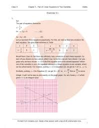 rd sharma class 10 solutions chapter 3 pair of linear equations in two variables part