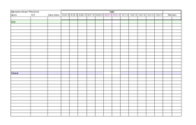It Meeting Attendance Tracker Template Templates For