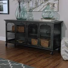 industrial media furniture. exuding an industrial appeal our tv stand features allmetal frame locking media furniture