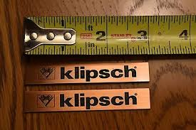 klipsch logo. vintage klipsch logo brass badges pair klipschorn la scala belle cornwall emblem