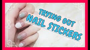 nail sticker review dashing diva gloss gel nail strip 네일 스티커 리뷰