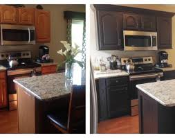 painted black kitchen cabinets before and after. kitchen:incroyable chocolate brown painted kitchen cabinets amusing perfect before and after how paint dark black