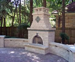 white stone fireplace outdoor