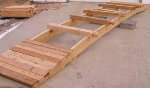 attaching the floor planks to the bridge stringer