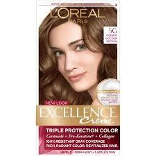 Loreal Paris Excellence Creme Permanent Triple Protection Hair Color 5g Medium Golden Brown