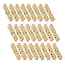 Natural Wooden Clothespins - Large Clothespins for Shirts, Sheets, Pants,  Decor - 24