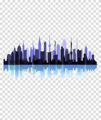 Oriental Pearl Tower Silhouette Cartoon City Silhouette