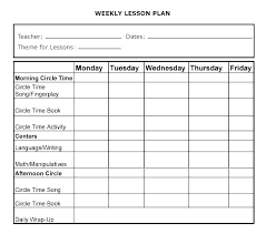 Middle School Lesson Plan Templates Common Core Weekly Lesson Plan Template Best Free Printable