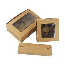 kraft cupcake boxes with windows rustic vintage brown manilla favour cookie cookie boxes wholesale m86