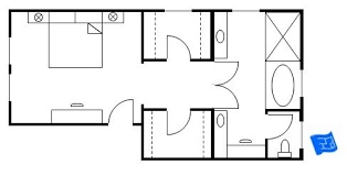 Pinterest Narrow Master Suite Layout  Master Bathroom With Closet Floor Plans  Bedroom Floor Plan
