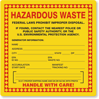 Dot Hazardous Materials Table Hazmat Placards And Hazardous Waste Labels