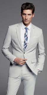 Light Grey Pinstripe Suit Combinations A Grey Suit Is Perfect For Spring Express Mensfashion