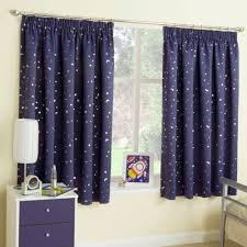 Lovely Stars At Night Blockout Thermal Curtains For Kids Children S Bed Room Blue
