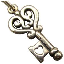 vintage james avery sterling silver key