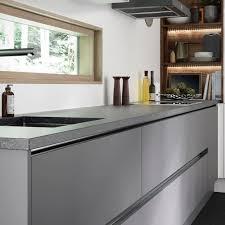 Mood Lighting Kitchen Super Matt Grey Kitchen Units Add An Ultra Modern Feel
