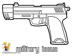 Printable Pistol Coloring Pages Army Coloring