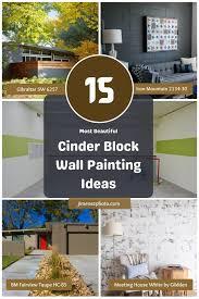 cinder block wall painting ideas
