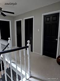 i think i am totally set on painting our interior doors black