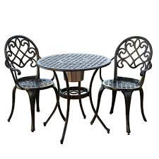 com best ing bistro set with ice bucket outdoor and patio furniture sets garden outdoor