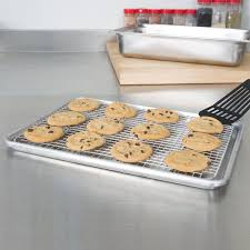cookie sheet with cooling rack vollrath 20248 super pan v 1 2 size footed cooling rack for bun