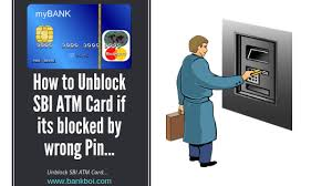 how to unblock sbi atm card if its