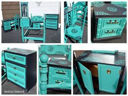 painting designs on furniture. Painted And Stenciled Furniture Using The Antico Stencil From Cutting Edge Stencils. Http:/ Painting Designs On D