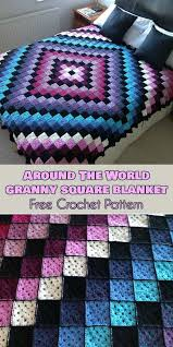 Granny Square Blanket Pattern Amazing Around The World Granny Square Blanket Free Crochet Pattern Your