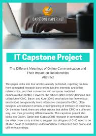 best capstone project for information technology capstone project for information technology best paper titles