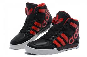 adidas red shoes. uk-adidas originals wings hard court hi big logo black red shoes adidas n