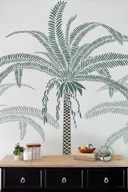 palm tree wall stencil large 7 5 feet tall diy home decor wall art