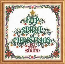Amazon Com Spirit Of Christmas Cross Stitch Chart And Free
