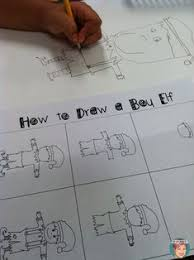 how to draw an elf directed drawing for students directed drawing arts integration