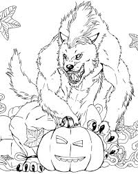 Small Picture Halloween Coloring Pages Werewolf Frigthful Werewolf Page