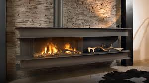 contemporary gas fireplace efficiency