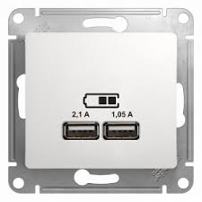 <b>Розетка USB Schneider Electric</b> Glossa GSL000133 Белый