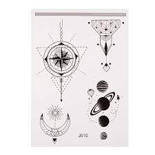 татуировка индии защита от солнца луны и звезд водонепроницаемый временные