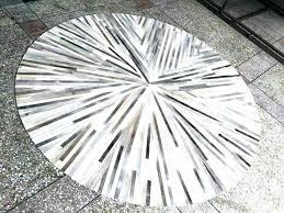 round cowhide rug image 0 white